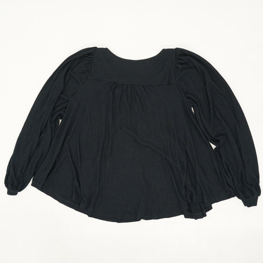 Black Devin Textured Knit Top - Size S