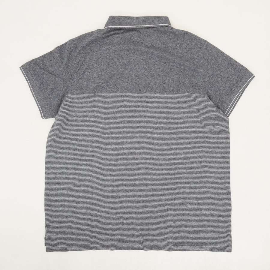 Colorblock Collared Polo Shirt - Size XL