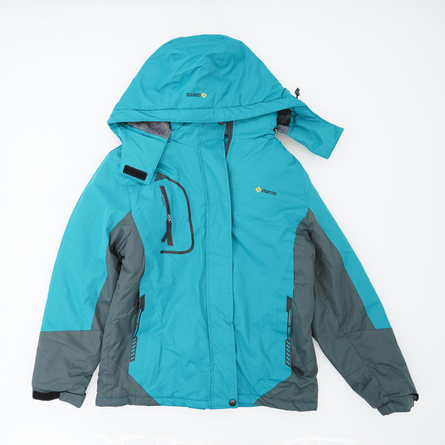 Teal Hooded Ski Coat Size M