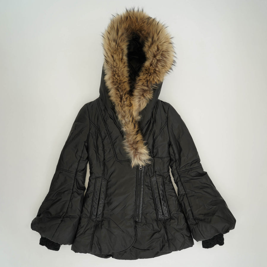 Fur Trimmed Coat Size XXS