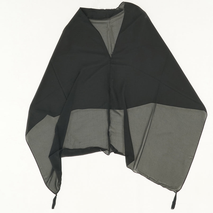 Sheer Solid Shawl- Black Size OS