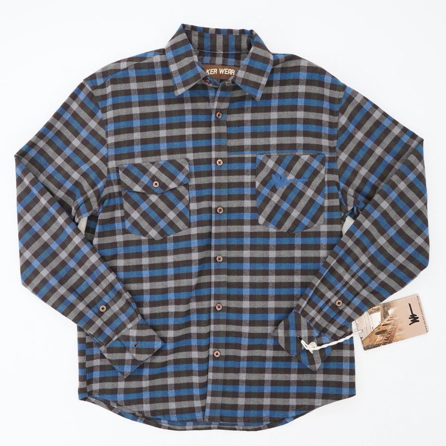 Brooklyn Construction Embroidered Flannel Shirt Size S