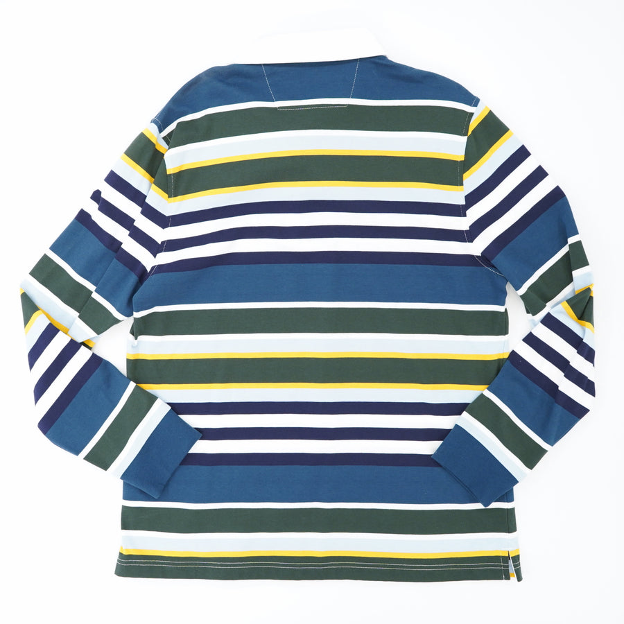 Striped Long Sleeve Polo Size XL