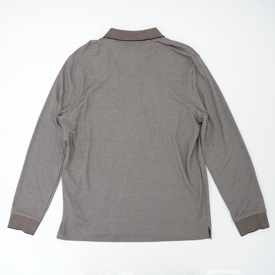 Gray Long Sleeve Polo Size L