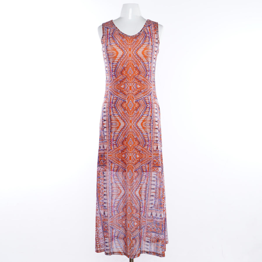 Sleeveless Maxi Dress In Fiesta - Size S