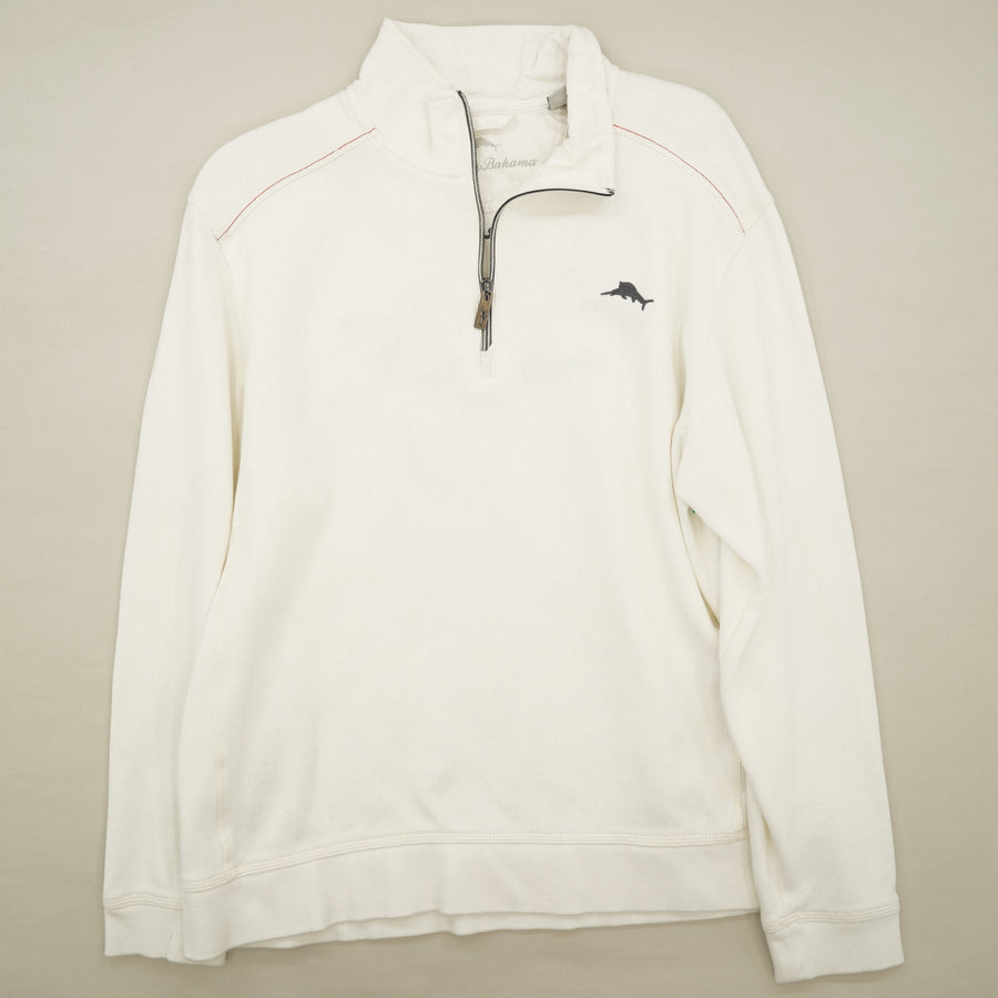 Relax 1/4 Zip Pullover Shark On Back Shirt Size M
