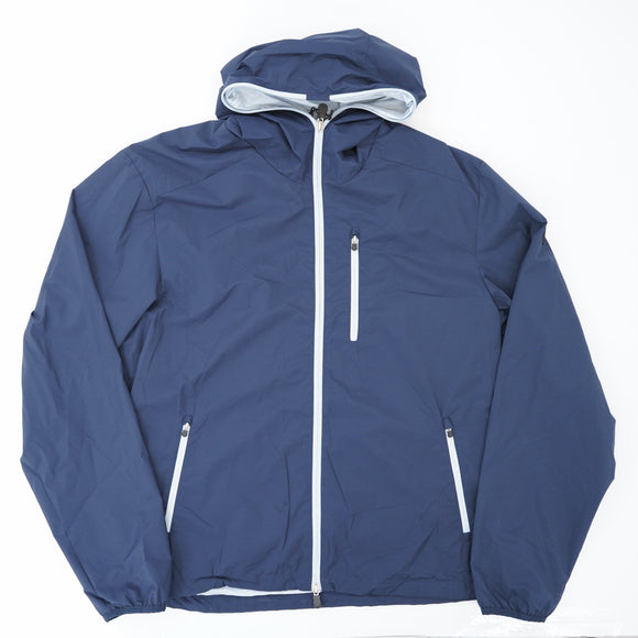 Navy Rain Jacket With Bag
