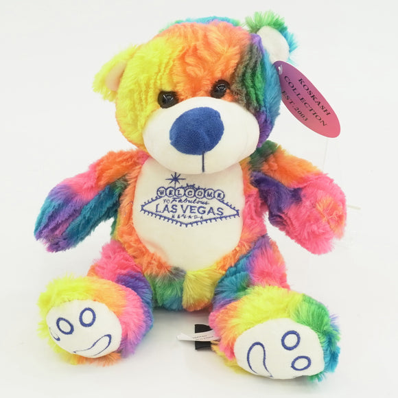Las Vegas Rainbow Plush Bear