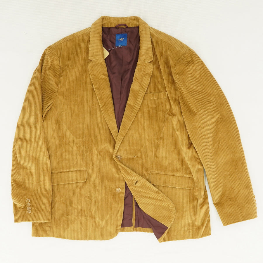 Toffee Ribbed Cord Blazer - Size 54R , 56R