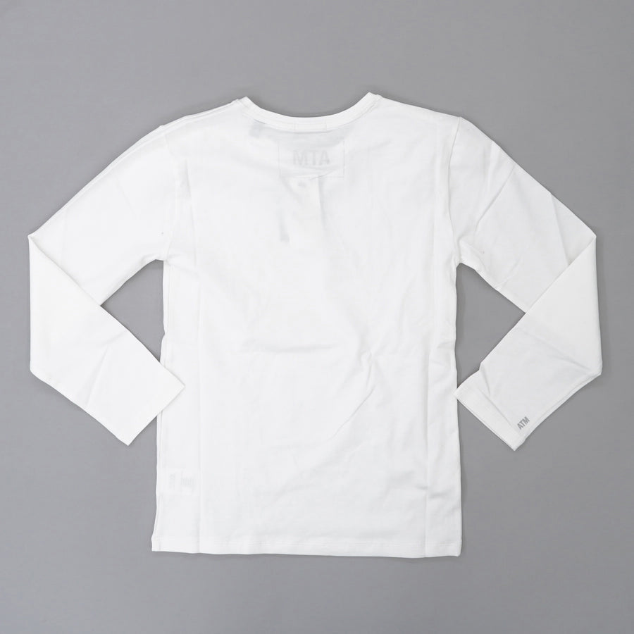Long Sleeve Baby Tee - White Size S