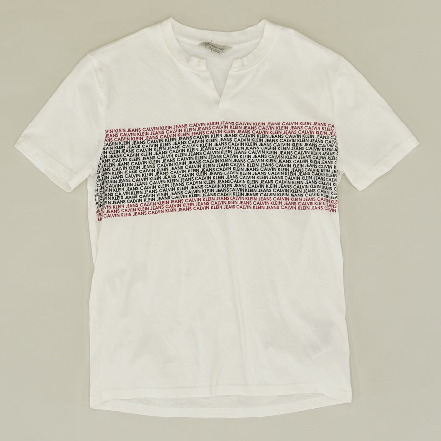 Graphic V-Neck T-Shirt - Size S
