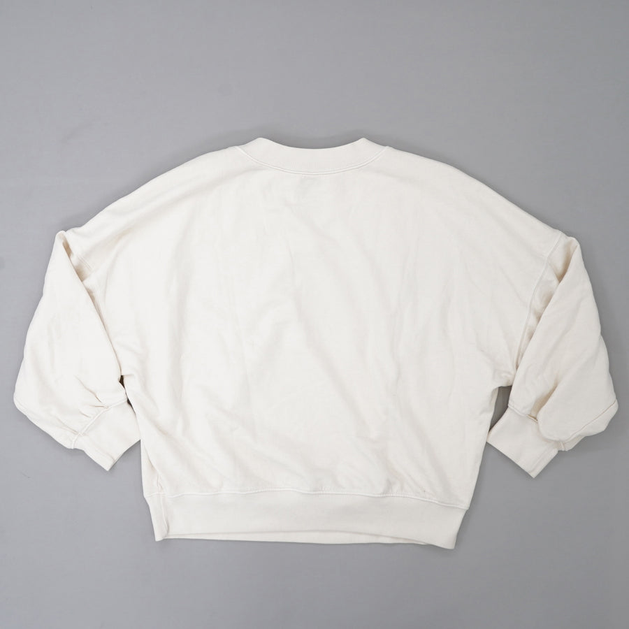 Betty Mock Neck Sweatshirt In Coconut