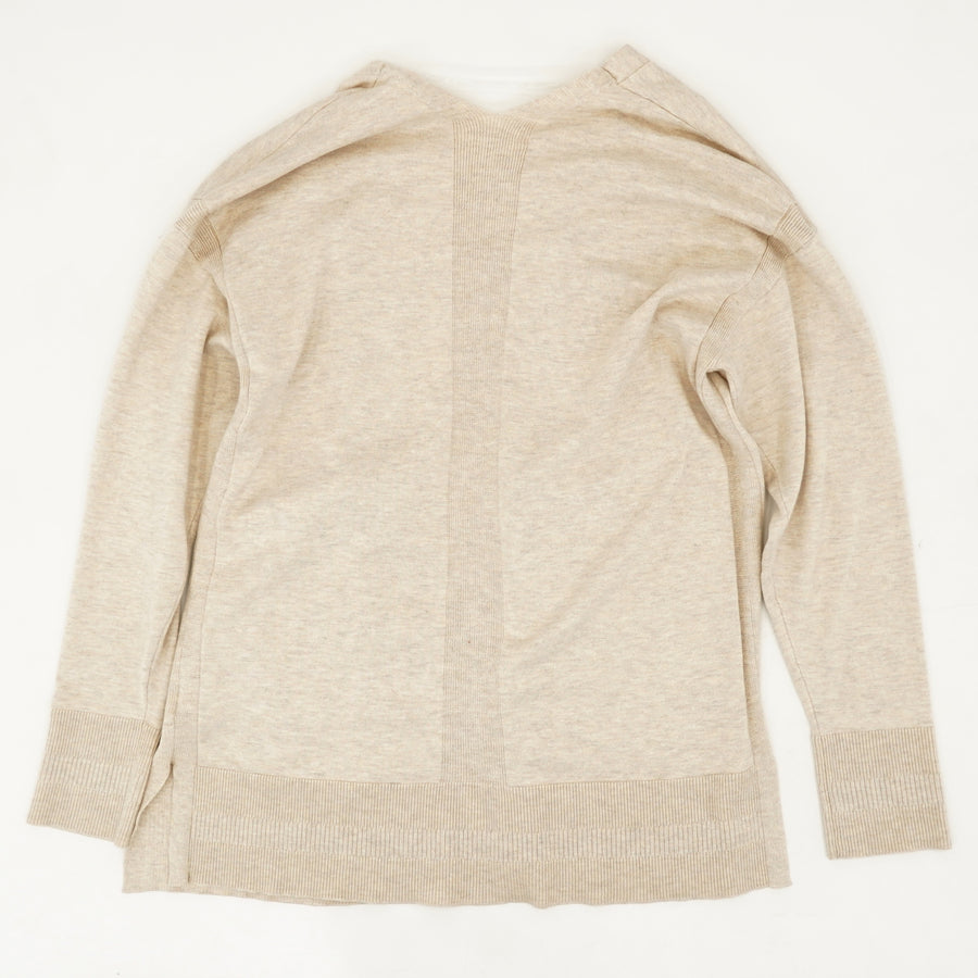 Open-Front Knit Cardigan Size M