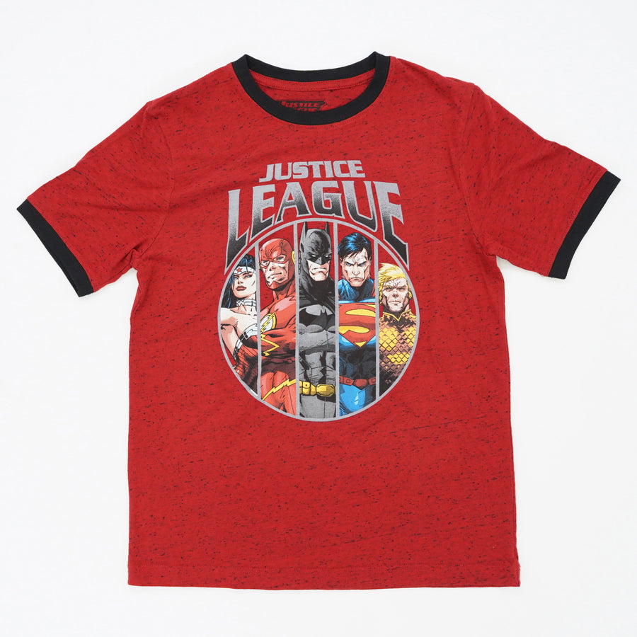 Justice League Black Trim Tee Size 10