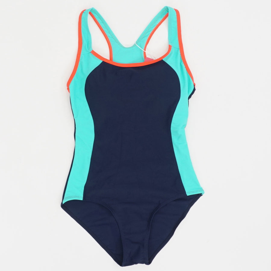Backless Splice One Piece Swimsuit -  Size S