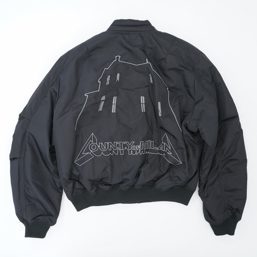 Black Ghost House Bomber Jacket