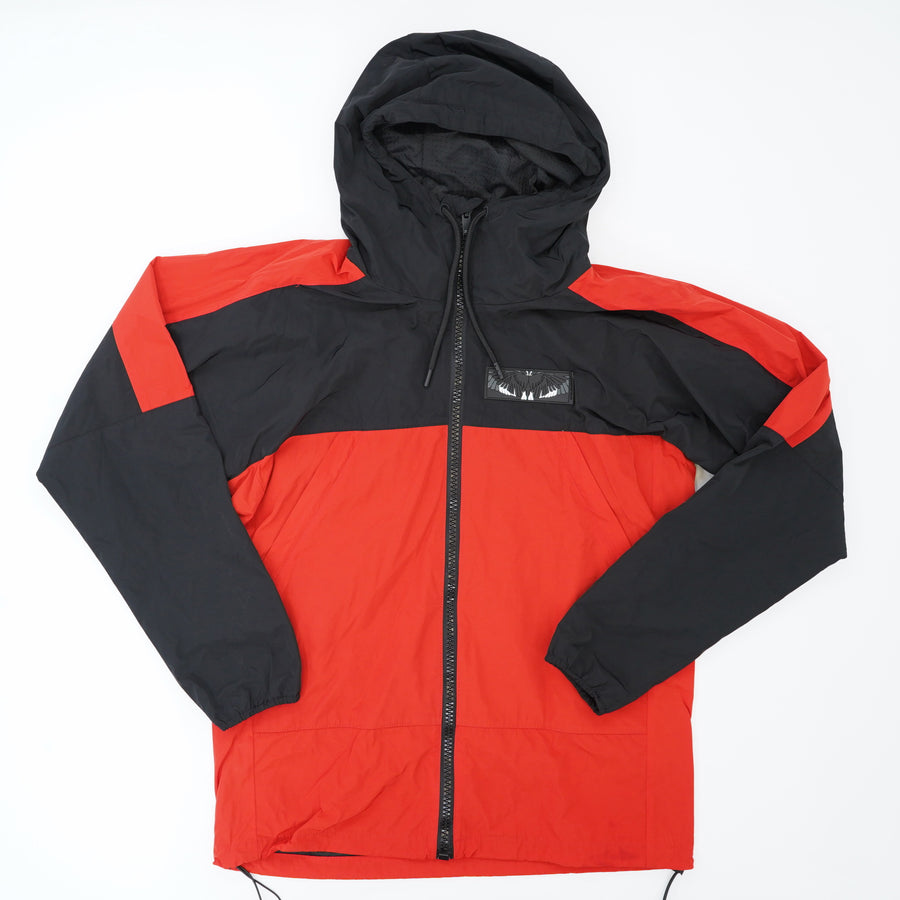 Red Windbreaker with Wings Patch