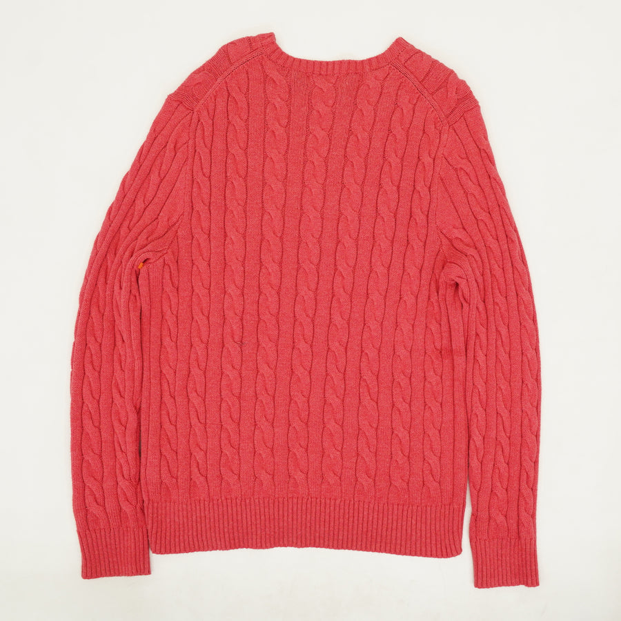 Chunky Cable Knit Sweater - Size L