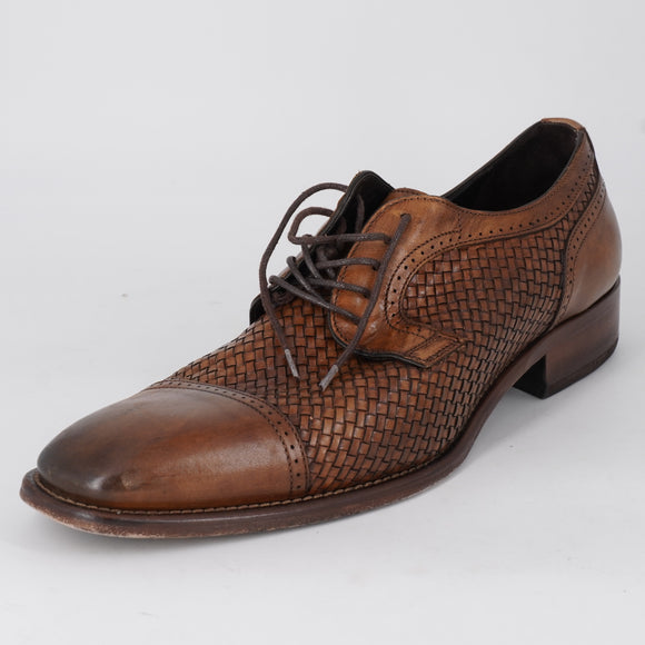 Cormac Woven Cap Toe Shoes Brown Size 9.5