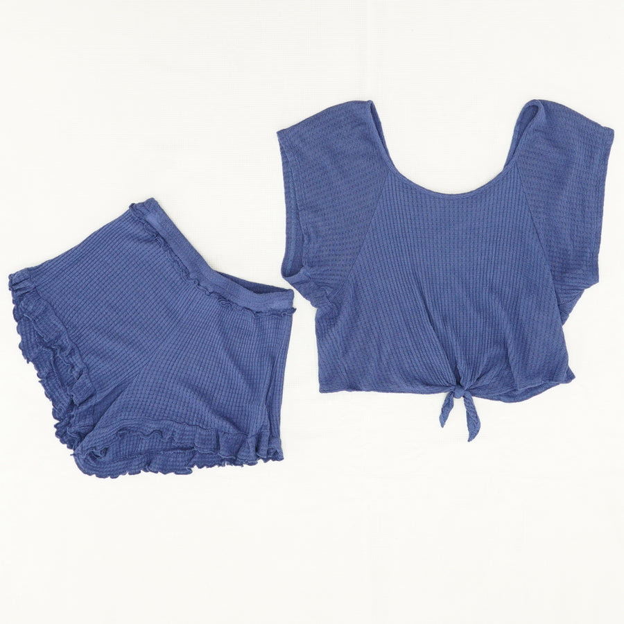Tie Top And Short Set - Size XS