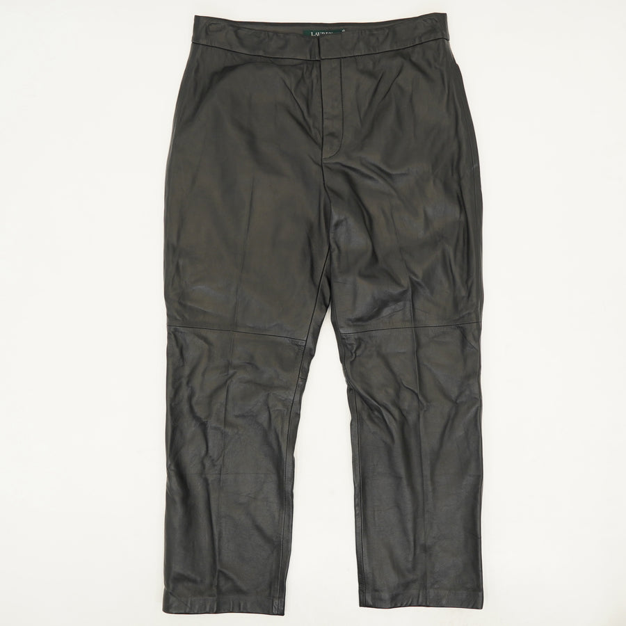 Straight Leg Leather Ankle Pants Size 8, 10