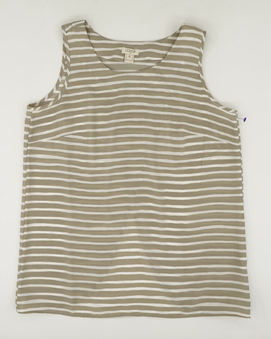 Striped Sleeveless Top Size 0