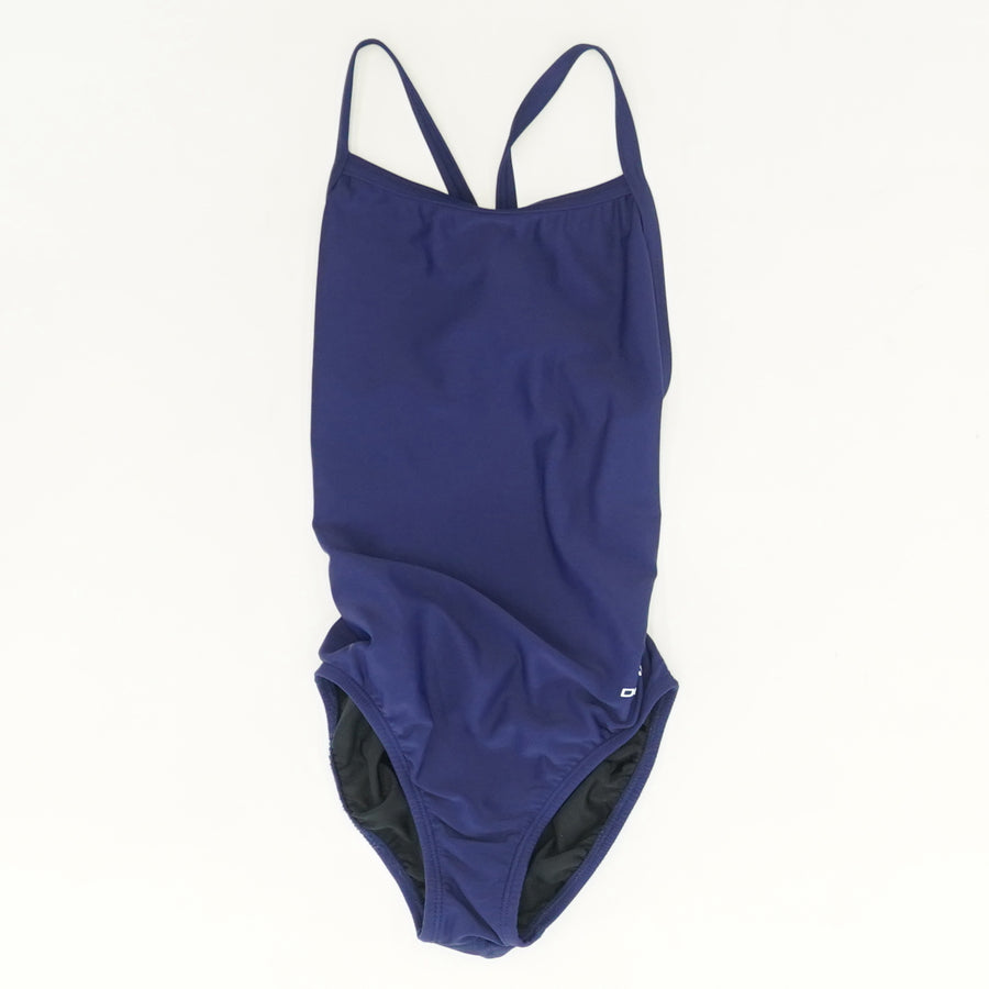 Solid Cross Back One-Piece Swimsuit - Size 30
