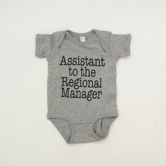 Assistant To The Regional Manager Onesie Size 12 Months