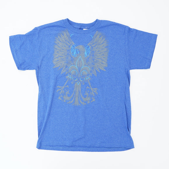 Eagle With Fleur-de-lis Graphic Tee Size XL