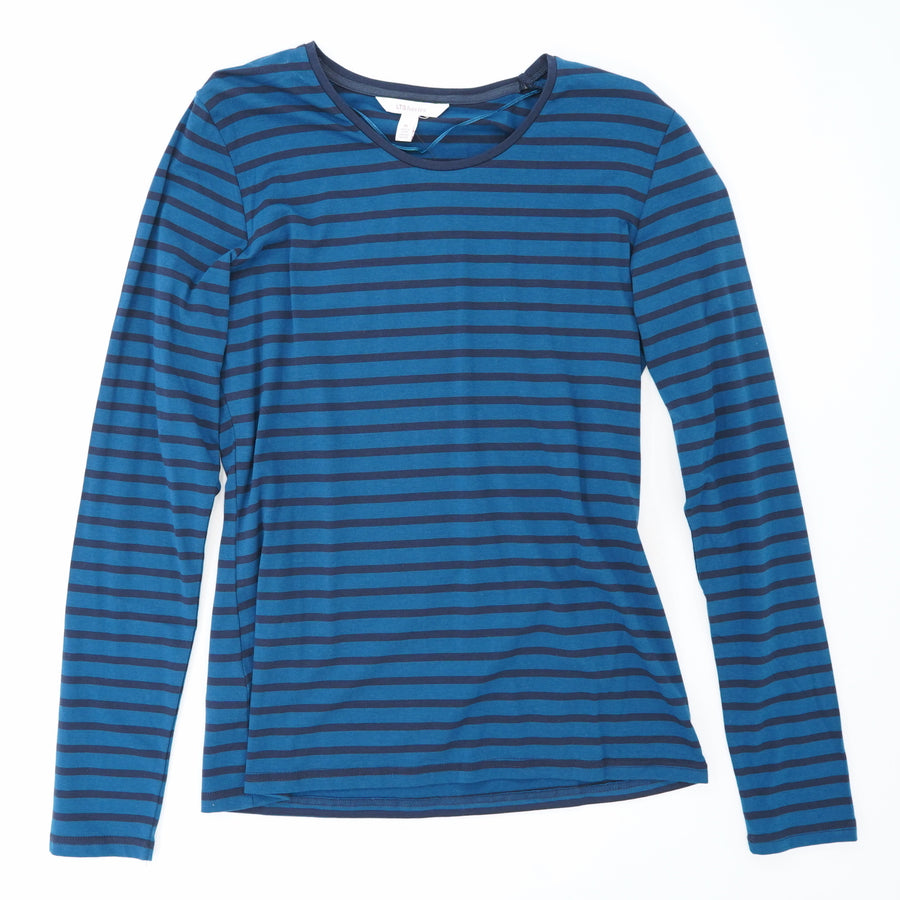 Essential Long Sleeve Striped T-Shirt Size M