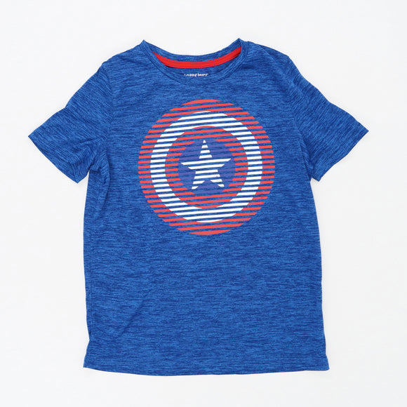 Captain America Symbol Active Tee Size 10