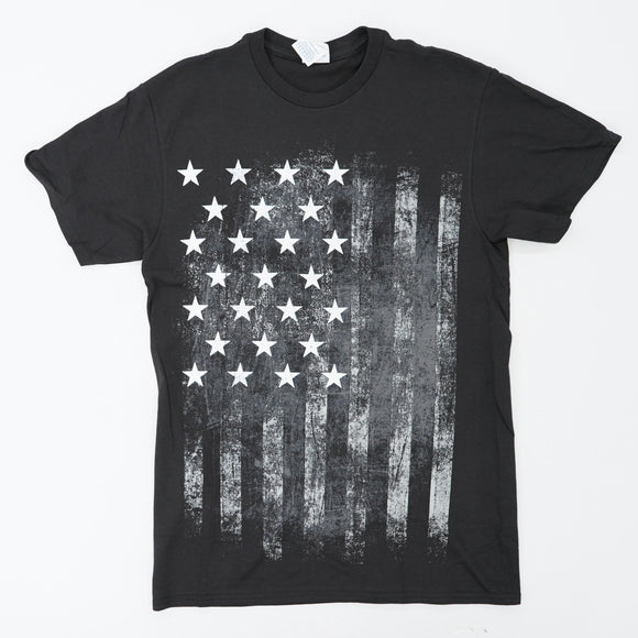 Black And White American Flag Tee Size S