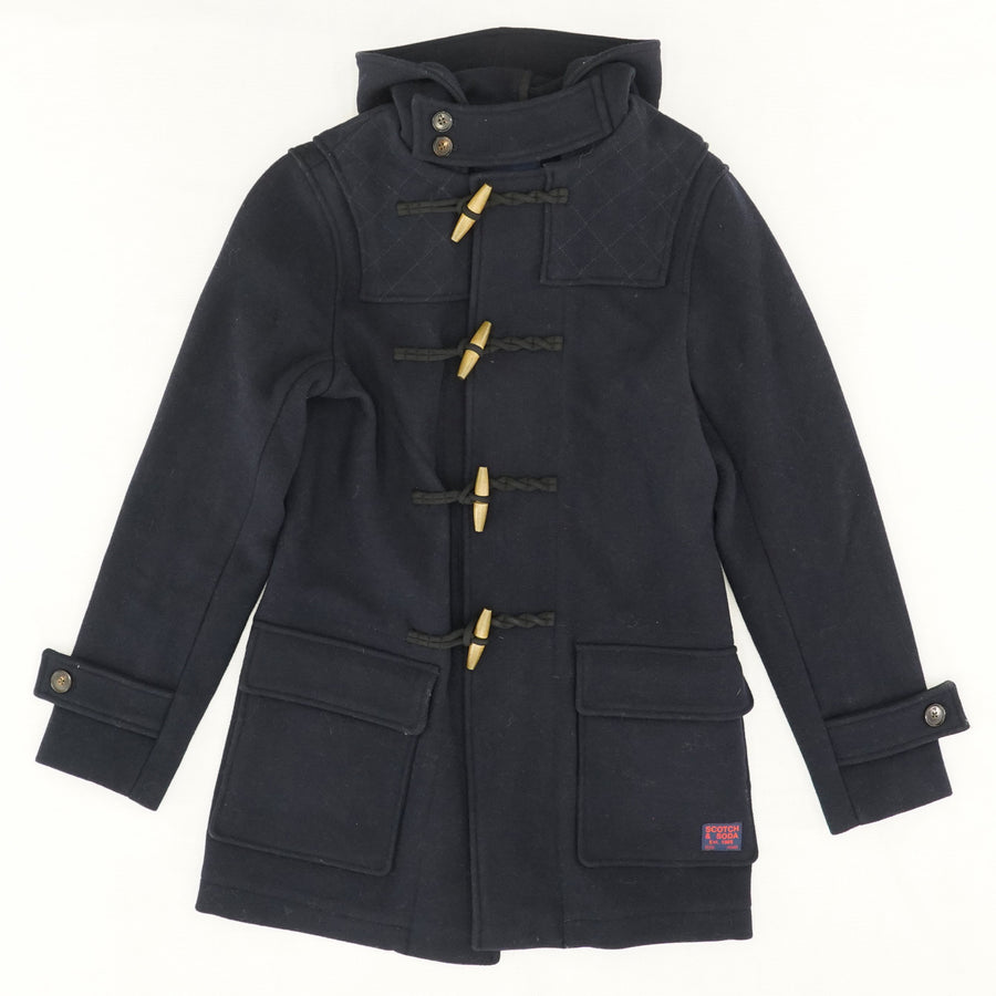 Navy Wool Blend Midi Coat Size S