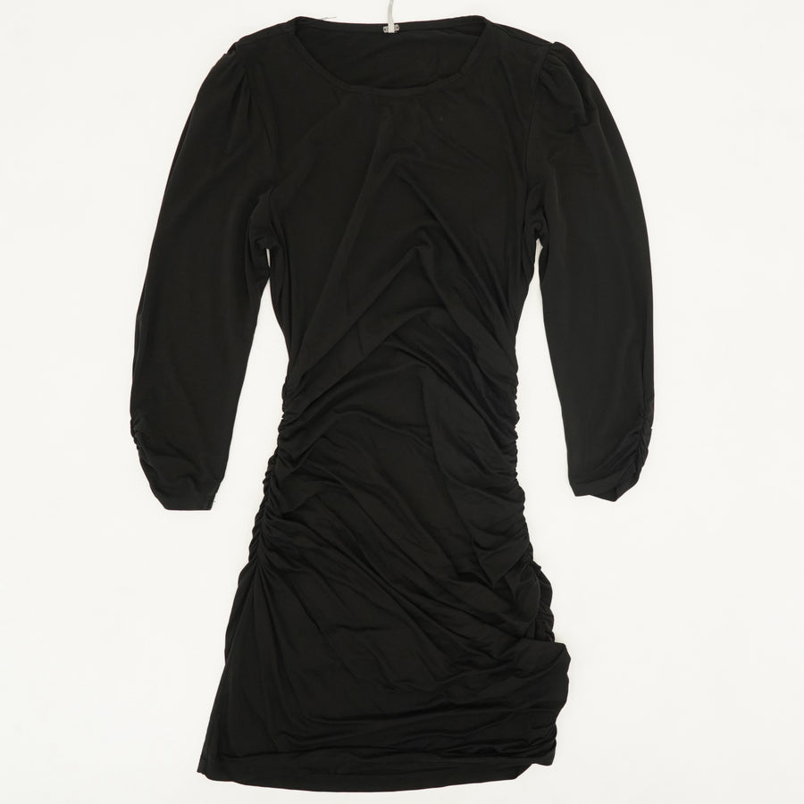 Ruched Short Black Dress Size M