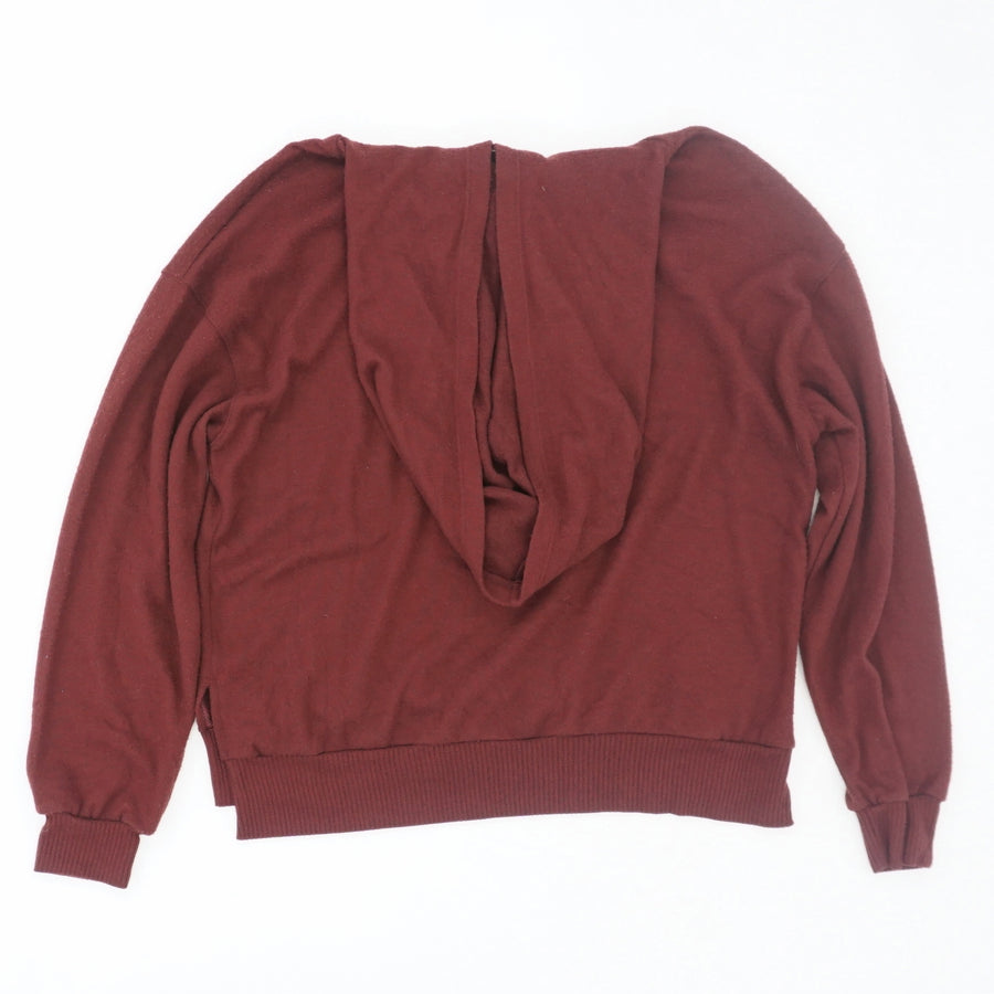 Red Solid Hoodie - Size S