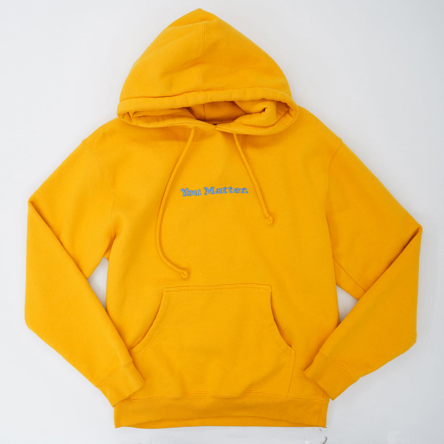 "Yellow ""You Matter"" Hoodie Size S"