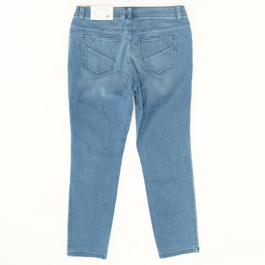 Modern Fit Ankle Jeans Size 4P, 6