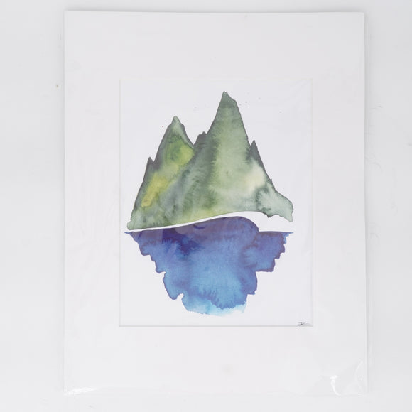 Blue And Green Watercolor Print