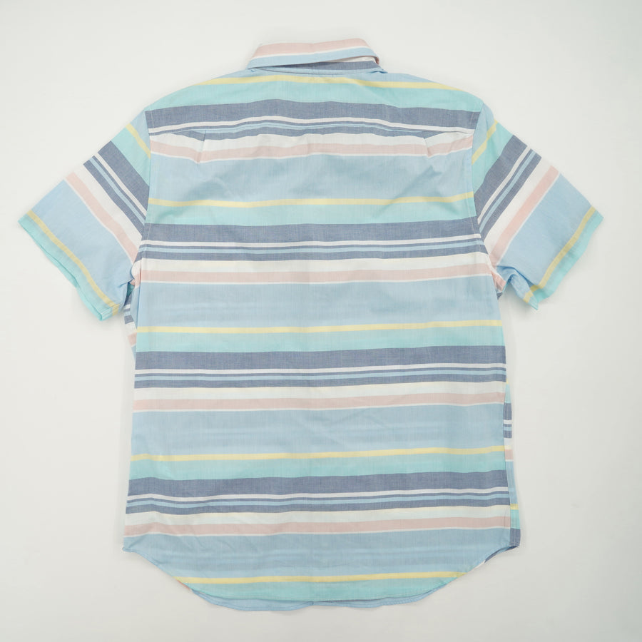 Striped Short Sleeve Button Down Size L