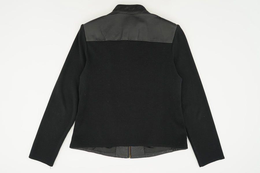 Leather Front Jacket Size M