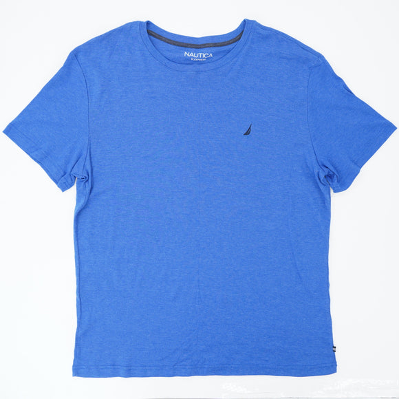 Blue Solid Short Sleeve Tee