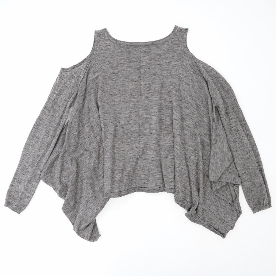 Gray Cold Shoulder Sweater Size 6