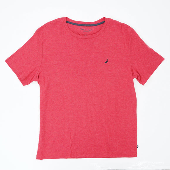 Red Solid Short Sleeve Tee