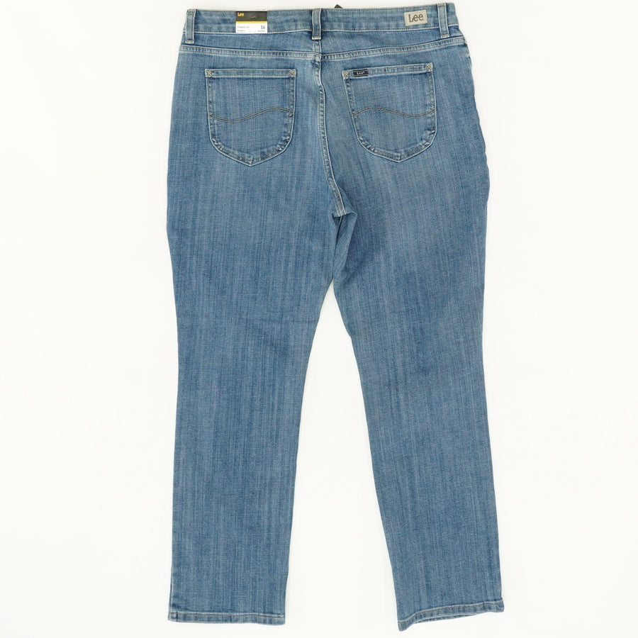 Regular Fit Straight Leg Mid-Rise Jeans - Size 16S, 16