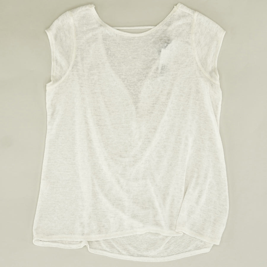 Sheer Open Back Blouse - Size S