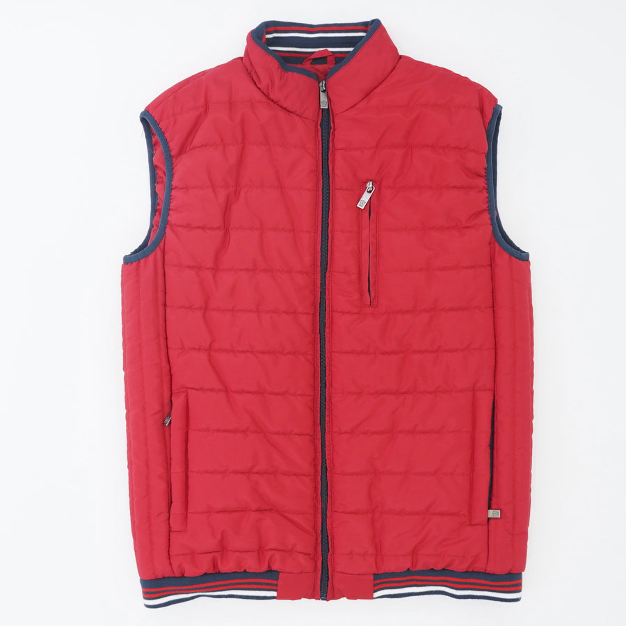 Red Puffer Vest Size M