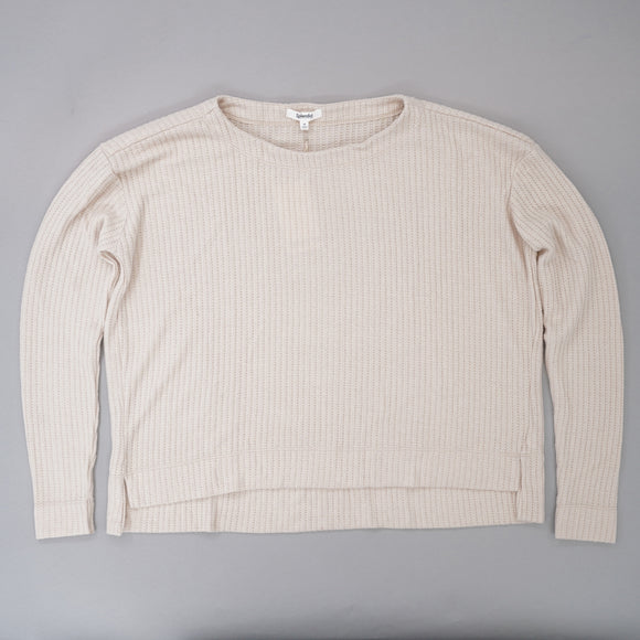 Ivory Knit Blouse Sweater Size M