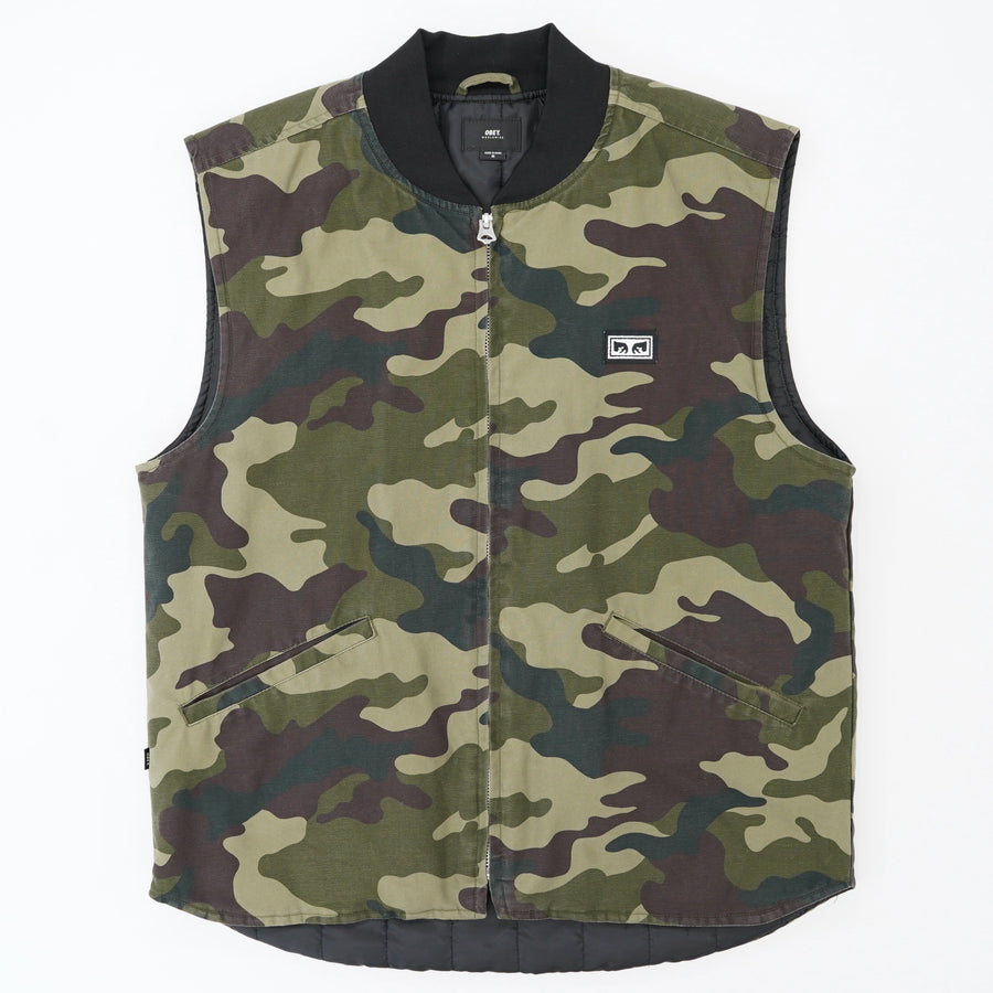 Camo Vest With Graphic Back Size M