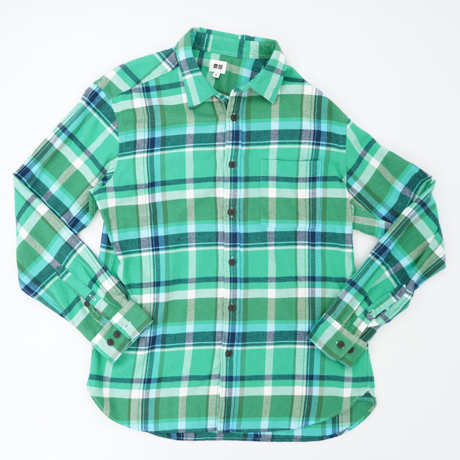 Green Plaid Button Down Size L