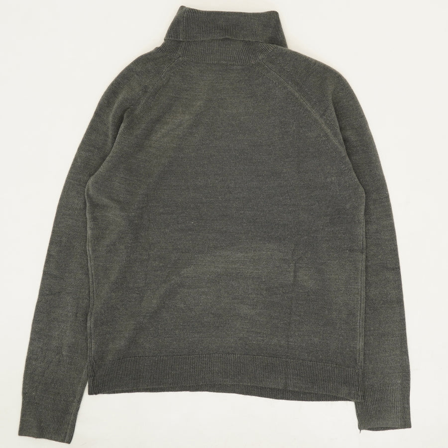Turtleneck Sweater-Charcoal Htr Size XS